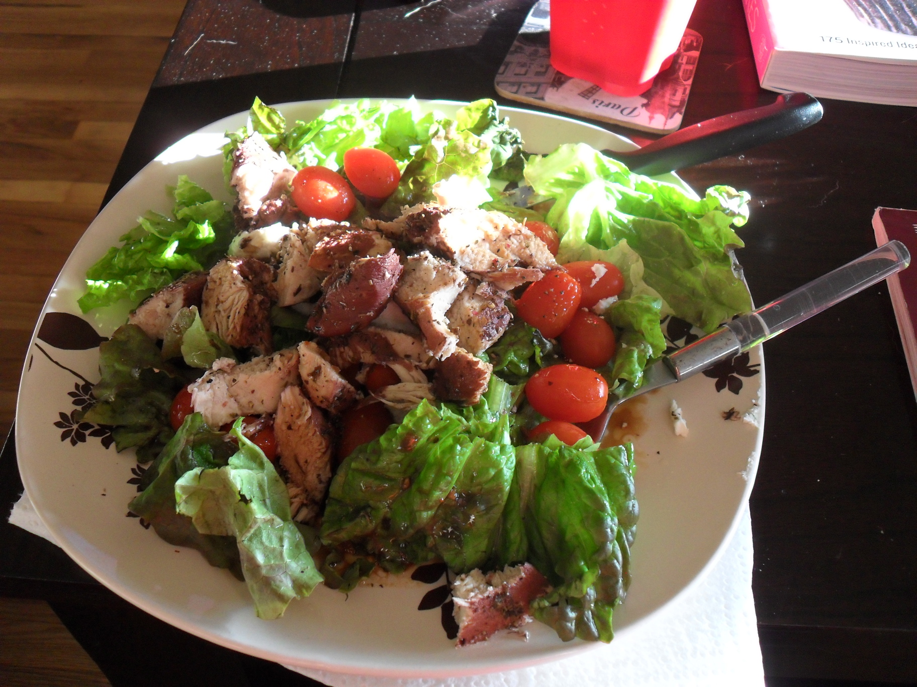 Red Wine Poached Chicken Salad