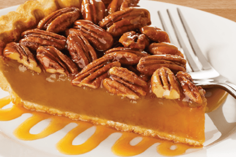 PECAN SULTANA AND BUTTERSCOTCH PIE