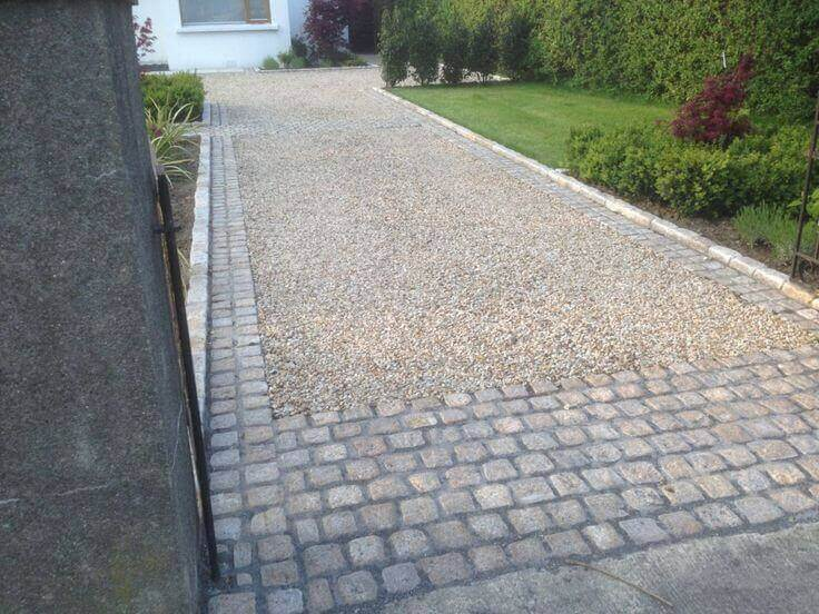 Boxing your gravel driveway using grid reinforcement materials and you won't have to worry about your gravel