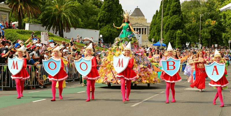 Moomba Festival is a labour weekend event that happens annually in Melbourne, Australia.