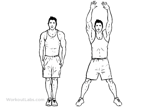 Jumping jacks is one of the most simple type of workout that you can do to lose weight