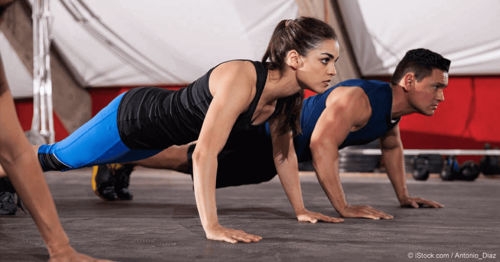 Push-ups will not just burn the fats on your shoulders but you will also be able to gain muscles