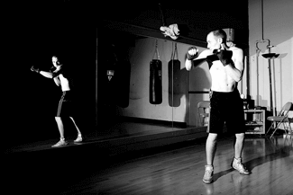 Shadow boxing is harder that what you think it is. It requires great focus and commitment