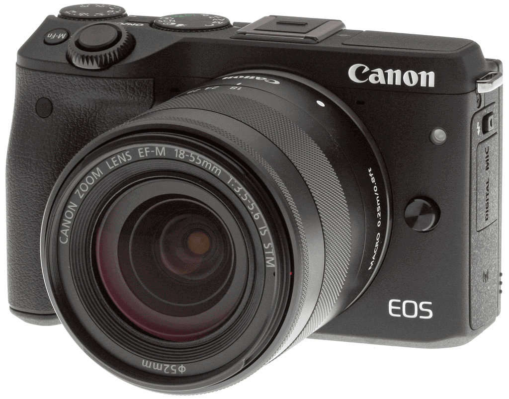 Canon EOS M3 is often used by Youtube vloggers because it is handy and affordable.