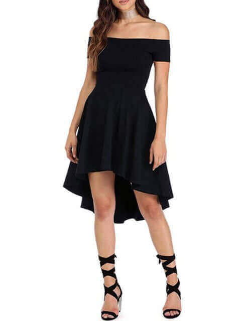 Elegant Off Shoulder Short Sleeve Ceap Party Dresses Under 25 Dollars