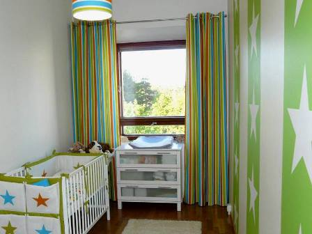We will consider natural and artificial lighting in a nursery