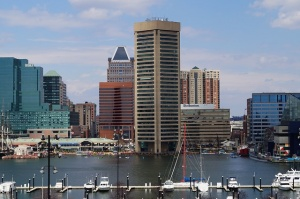 A view of Baltimore, one of the best cities in Maryland for single moms.