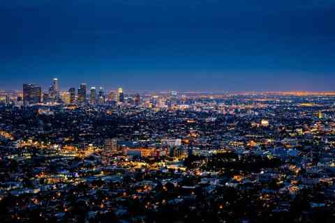 Panorama of some of the best Los Angeles suburbs to live in.