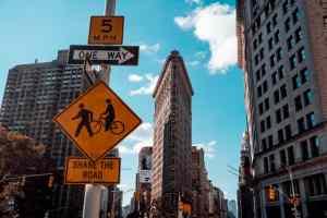 Manhattan street signs.