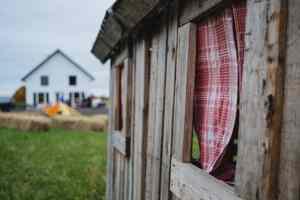 A rural house .