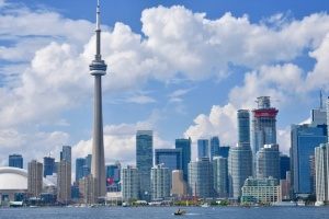 Toronto skyline with clouds