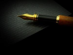 A golden fountain pen.